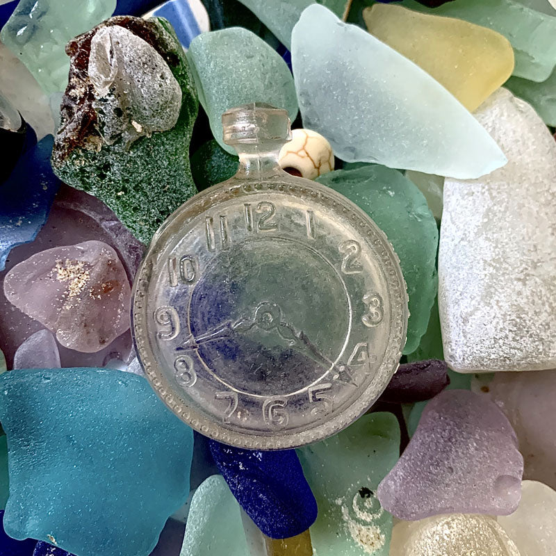 sea glass candy bottle