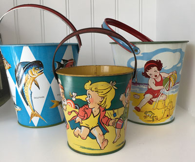 collectible metal pails
