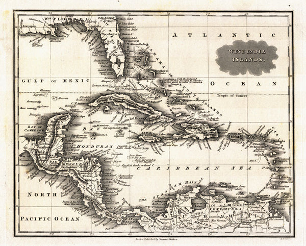 west indies map 1799