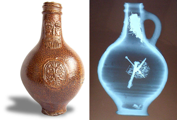 X-ray of a Bellarmine jug witch bottle