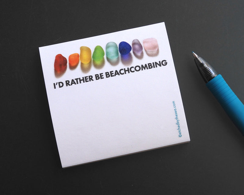 I'd Rather Be Beachcombing Sticky Notes