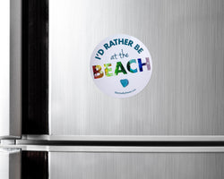 I'd Rather Be at the Beach Car Magnet