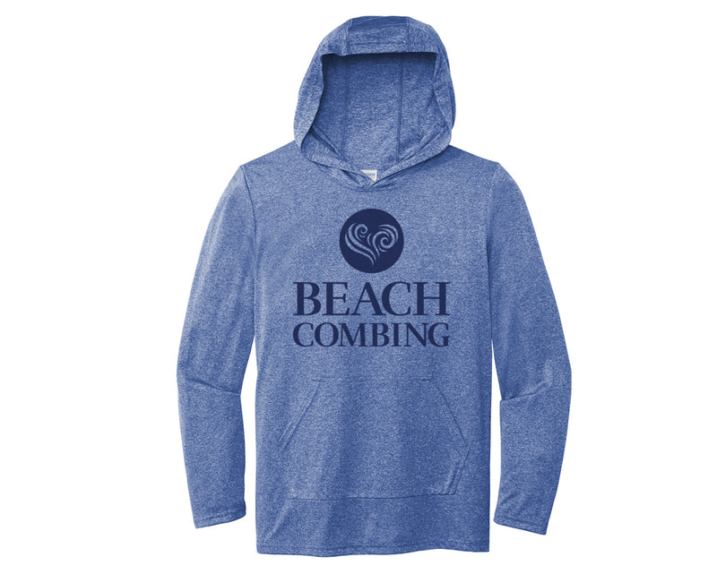 Beachcombing Hooded Long Sleeve Tee Shirt with Pouch Pocket - FREE U.S. Shipping