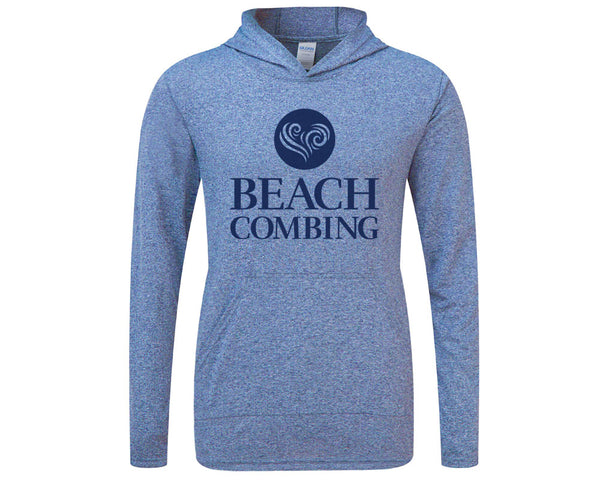 Beachcombing Hooded Tee with Pouch Pocket - FREE U.S. Shipping