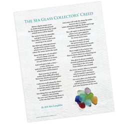 Sea Glass Collectors' Creed Poster - FREE U.S. Shipping