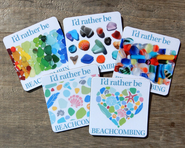 Beachcombing Square Magnets