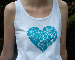 Beachcombing Heart T-Shirt or Tank Top - FREE U.S. Shipping
