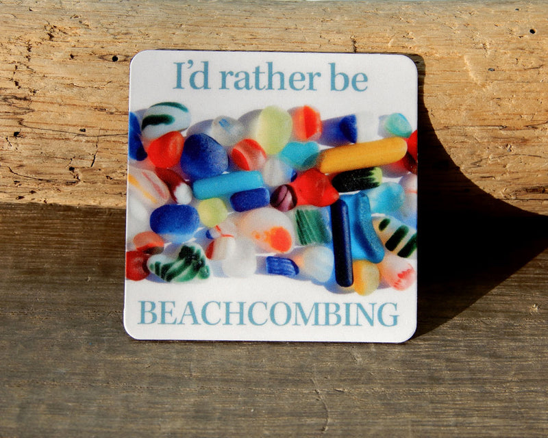 Beachcombing Square Magnets - FREE U.S. Shipping