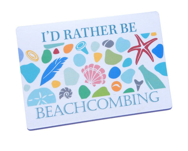 I'd Rather Be Beachcombing Pastels Magnet - FREE U.S. Shipping