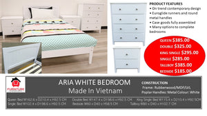 Aria White Bedroom