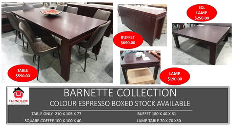 Barnette Espresso Collection