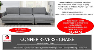 Conner Reverse Chaise