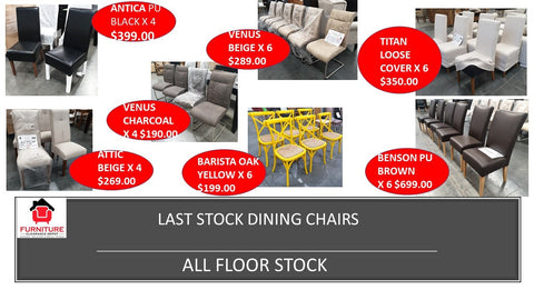 Last Stock Dining Chairs