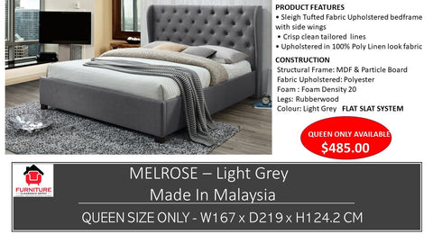 Melrose Fabric Queen Bed
