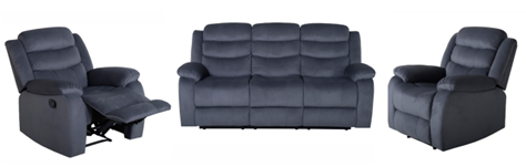 Turin 3 Seater with 2 Manual Recliners