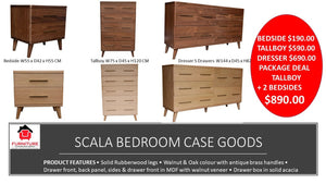 Scala Bedroom Case Goods