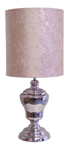 Chrome/Fabric Table Lamp