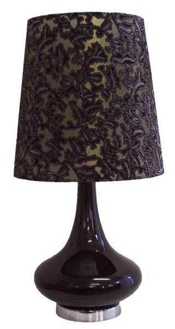Glass/Fabric Table Lamp