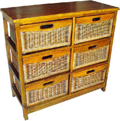 Havana Mango 6 Drawer Tall Cabinet