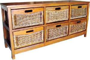Havana Mango 6 Drawer Wide Cabinet