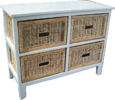 Northshore 4 Drawer Wide Cabinet