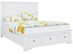 Roma White Wash Ash Queen Bed