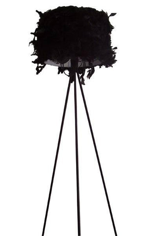 Steel/Feather Floor Lamp