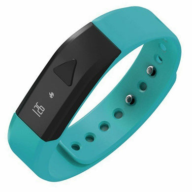 Bluetooth Activity I5 Smart Bracelet Wearable Smart Wristbands with Pedometer Sleep Tracker for IOS Android Phones (Green-blue)