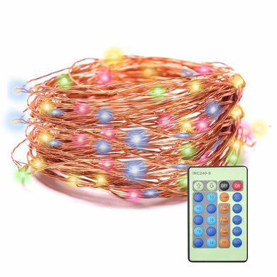Starry Lights,Remote Control 33FT 100LED Copper Wire Outdoor and Indoor String Lights Xmas Decorations Fairy Lights for Christmas,Room,Patio,Garden,Backyard Parties (Colorful)