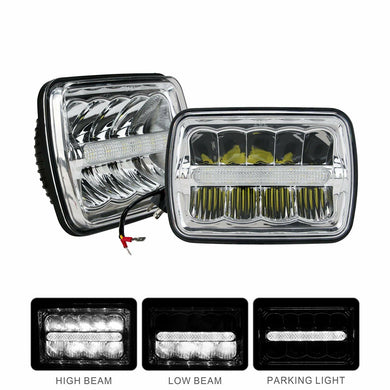 5x7(7x6) inch Led Sealed Beam(One Pair) Headlight H/Low Beam with Parking Light Replace any 200MM H6054 H6014 H6052 Style Light