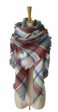 Oops Style Women's Fashion Winter Long Big Warm Plaid Blanket Shawl Scarf for Women