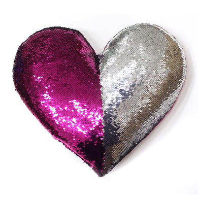 13''×15''Heart-shaped Mermaid Sequin Pillow