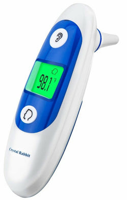 Medical Forehead and Ear Thermometer, Crystal Rabbit Infrared Digital Thermometer Suitable For Baby, Infant, Toddler and Adults with CE and FDA approved