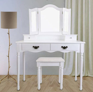 makeup table with 4 drawers/white