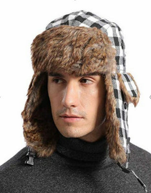 NovForth Winter Trapper Hat Russian Aviator Snow Faux Fur Hunting Earflap Windproof Ushanka Cap