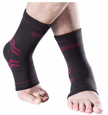 ROTERDON Ankle Brace Compression Sleeve for Achilles Tendonitis Joint Pain Laxation - Plantar Fasciitis Foot Sock with Arch Support to Relieve Swelling, Heel Spur Pain, Injury Recovery