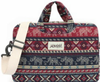 Mikelala elephant Pattern laptop shoulder bag 15 inch
