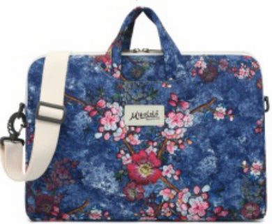 Mikelala Plum Blossom Pattern laptop shoulder bag 15 inch