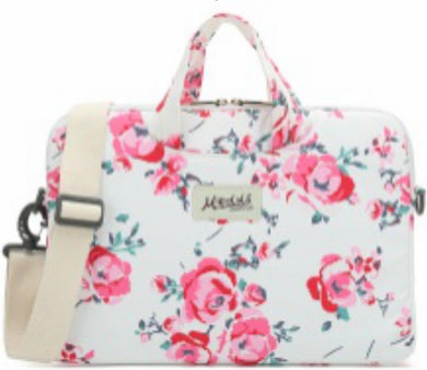 Mikelala Pink Rose Pattern laptop shoulder bag 13 inch