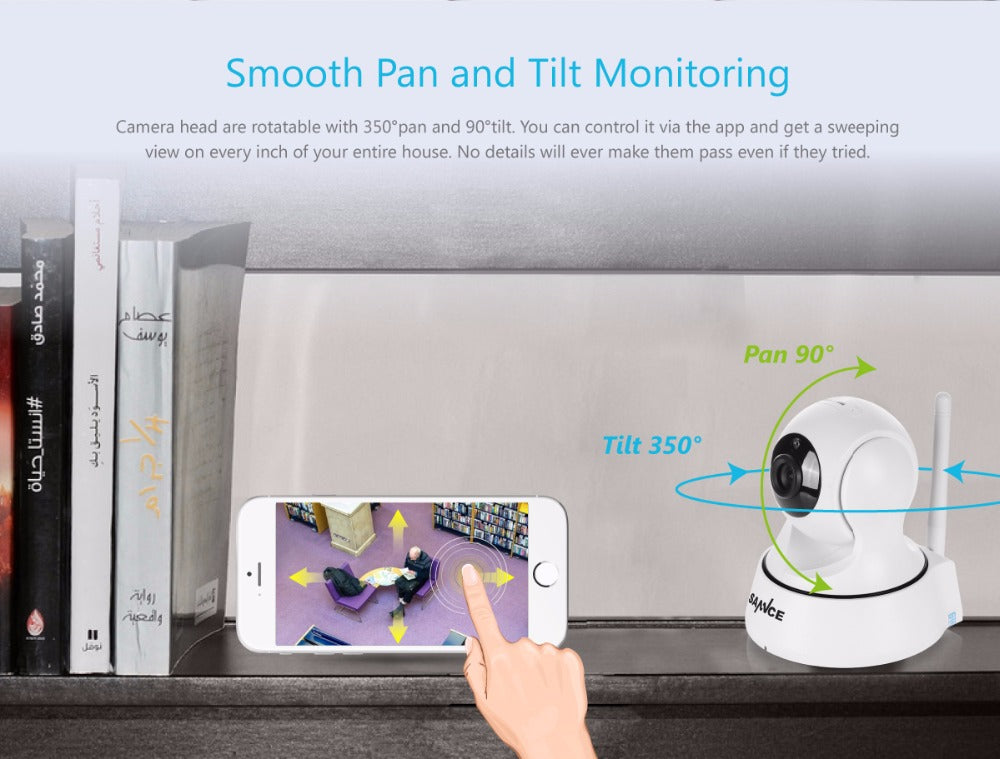 SANNCE WiFi 720P IP Home/Baby Security Monitor Camera