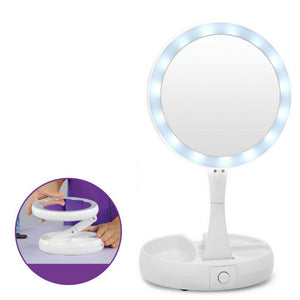 Fold Away LED Makeup Mirror Double-sided