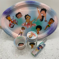 Betty boop rolling tray set