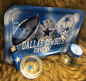 Dallas Cowboys  rolling tray set (read description)