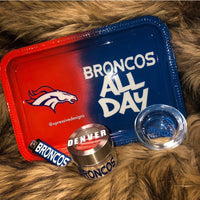 Denver Broncos rolling tray set (read description)