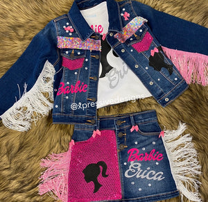 Barbie girl dream jean set (read description)