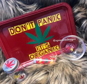 Don't panic Its organic rolling tray set