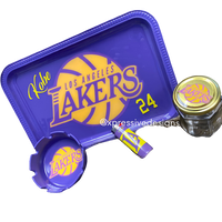 Lakers Rolling Tray Set