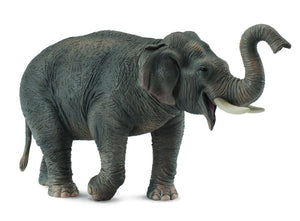 Handmade Asian Elephant Statue (Grey)