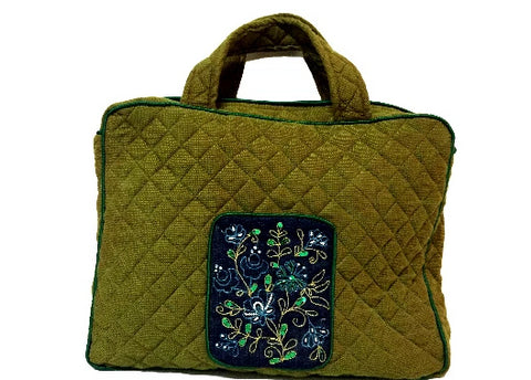 Laptop Bags with Document Holder (Olive Green)