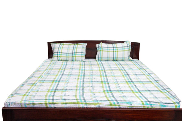 Fitted Bedsheet with Stripe Prints (King Size)